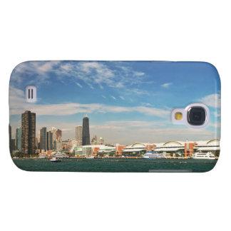 Ciudad - horizonte de Chicago y el embarcadero de Funda Para Galaxy S4