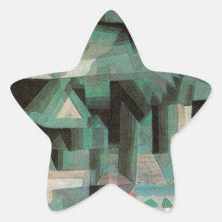Ciudad ideal de Paul Klee Pegatina En Forma De Estrella