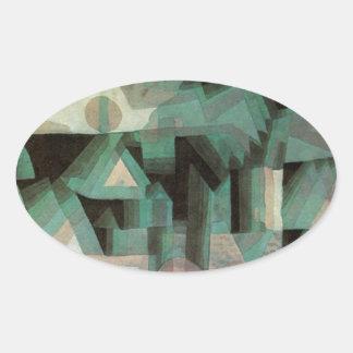 Ciudad ideal de Paul Klee Pegatina Ovalada