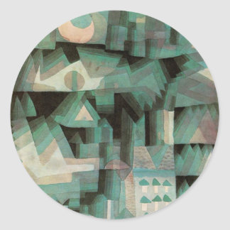 Ciudad ideal de Paul Klee Pegatina Redonda