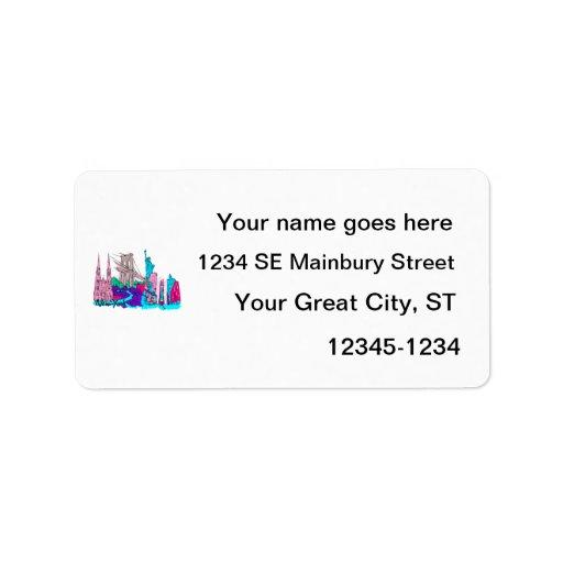 ciudad image.png de New York City 3 Etiquetas De Dirección