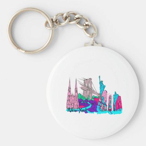 ciudad image.png de New York City 3 Llaveros Personalizados