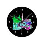 ciudad image.png del trullo de Amsterdam Relojes De Pared