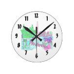 ciudad image.png del trullo de Amsterdam Reloj