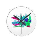 ciudad image.png del trullo de Estambul lumpur Reloj De Pared
