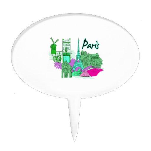 ciudad image.png del trullo de París Figuras De Tarta