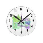 ciudad image.png del verde 2 de Amsterdam Reloj