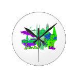 ciudad image.png del verde 2 de Estambul Reloj De Pared
