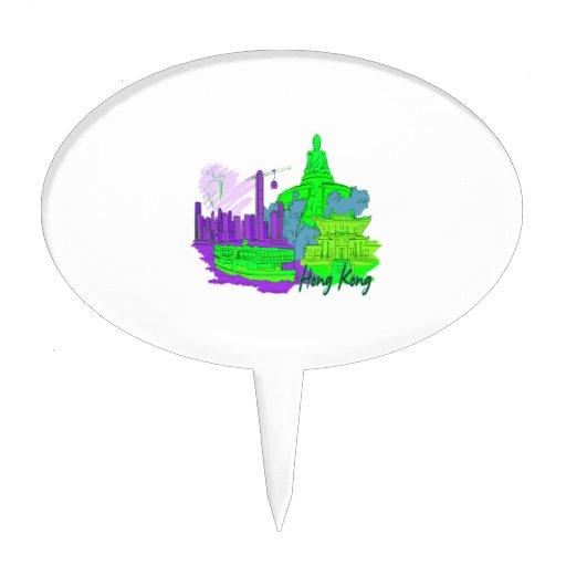 ciudad image.png del verde 2 de Hong-Kong Figura De Tarta