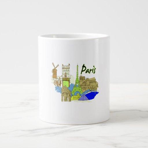 ciudad image.png del verde de París Taza Extra Grande