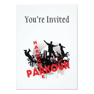 """Ciudad incondicional del Grunge de Parkour Invitación 5"""" X 7"""""""