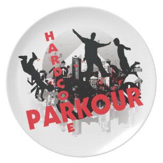 Ciudad incondicional del Grunge de Parkour Platos De Comidas