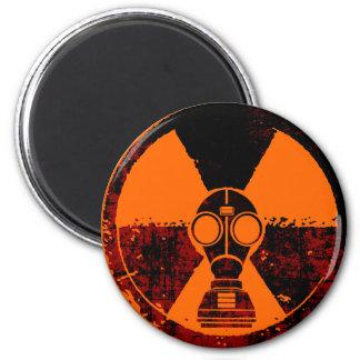 Ciudad infectada radiación (alta) imán redondo 5 cm