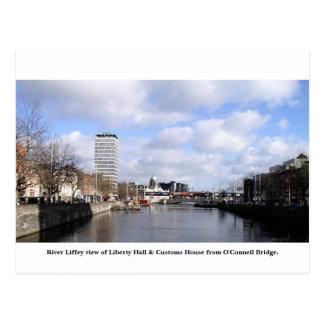 Ciudad Irlanda, libertad Pasillo, de Dublín aduana Postales