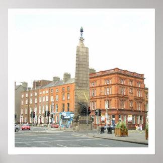 Ciudad Irlanda, monumento de Dublín de Parnell Póster