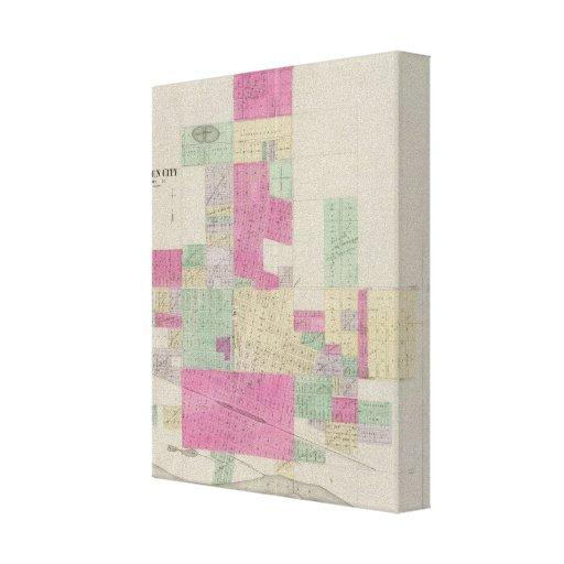 Ciudad jardín, el condado de Finney, Kansas Impresión En Lona