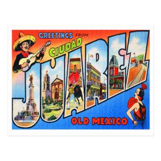 Ciudad Juarez Old Mexico Postcard