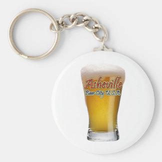 Ciudad los E.E.U.U. de la cerveza de Asheville Llavero Redondo Tipo Pin