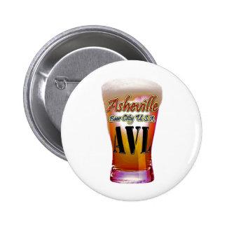 Ciudad los E.E.U.U. de la cerveza de Asheville Pin Redondo 5 Cm