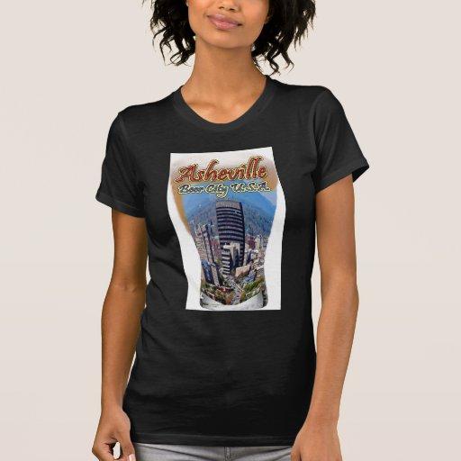Ciudad los E.E.U.U. de la cerveza de Asheville Camisetas