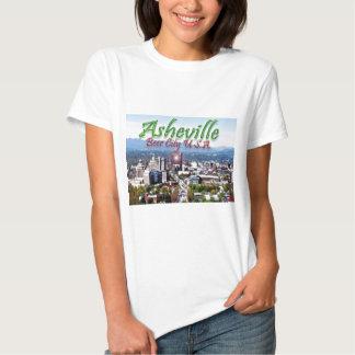Ciudad los E.E.U.U. de la cerveza de Asheville Remeras