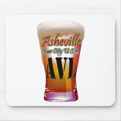 Ciudad los E.E.U.U. de la cerveza de Asheville Tapetes De Ratones