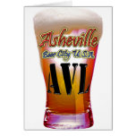 Ciudad los E.E.U.U. de la cerveza de Asheville Tarjeton