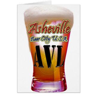 Ciudad los E.E.U.U. de la cerveza de Asheville Tarjeta De Felicitación