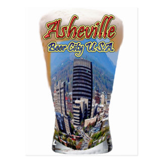 Ciudad los E.E.U.U. de la cerveza de Asheville Tarjeta Postal