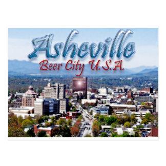 Ciudad los E.E.U.U. de la cerveza de Asheville Tarjetas Postales