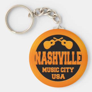 Ciudad los E.E.U.U. de la música de Nashville Llavero Redondo Tipo Pin