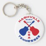 Ciudad los E.E.U.U. de la música de Nashville, Ten Llavero Personalizado
