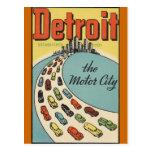 Ciudad los E.E.U.U. - viaje del motor de Detroit d Postal