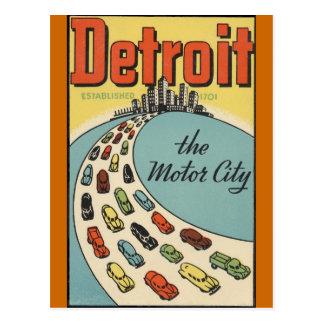 Ciudad los E.E.U.U. - viaje del motor de Detroit Postal