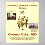 Ciudad Maryland, poster del océano del viaje del