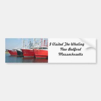 Ciudad Massachusetts de la caza de ballenas de New Pegatina Para Auto