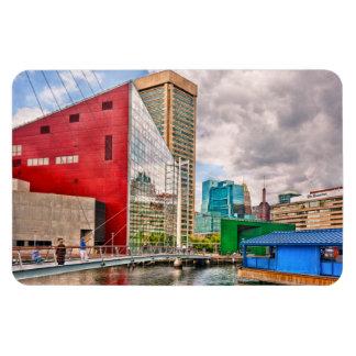 Ciudad - MD de Baltimore - lugar del puerto - Iman De Vinilo