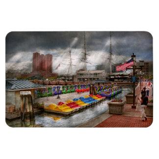 Ciudad - MD de Baltimore - Maryland moderno Iman Rectangular