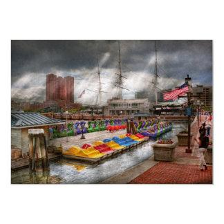 """Ciudad - MD de Baltimore - Maryland moderno Invitación 5"""" X 7"""""""