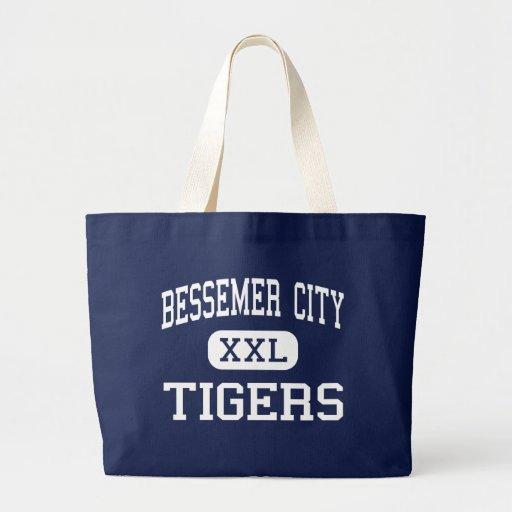 Ciudad media de Bessemer de los tigres de la ciuda Bolsas Lienzo