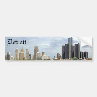 Ciudad Michigan de Detroit Pegatina De Parachoque