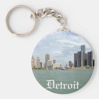 Ciudad Michigan de Detroit Llavero Personalizado
