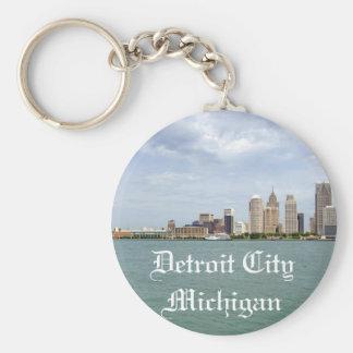 Ciudad Michigan de Detroit Llavero Redondo Tipo Pin