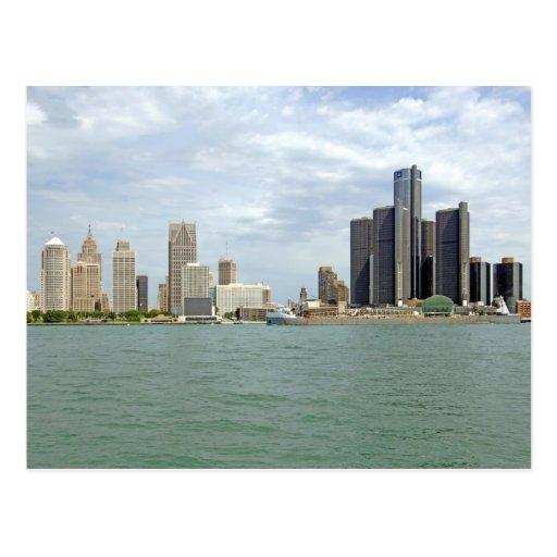 Ciudad Michigan de Detroit Tarjeta Postal