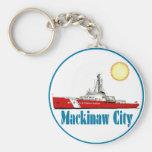 Ciudad Michigan de Mackinaw Llavero