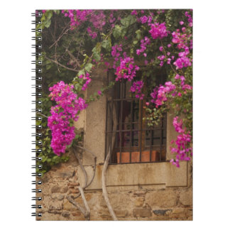 Ciudad Monumental, flower-covered buildings Spiral Notebook