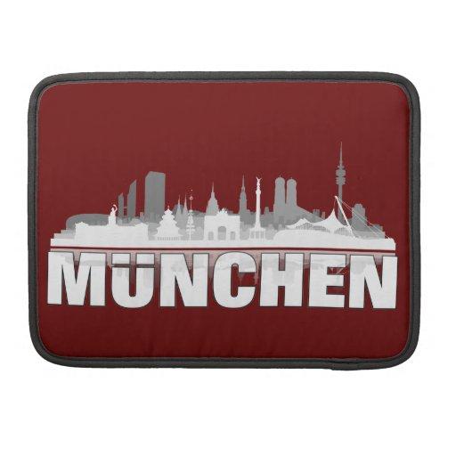 Ciudad muniquesa horizonte - MacBook Pro Sleeve Funda Para Macbooks
