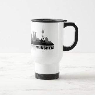 Ciudad muniquesa horizonte - vasos, taza, vidrio/ taza de viaje