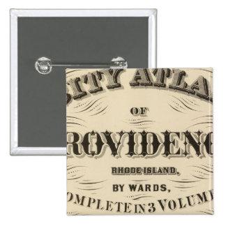 Ciudad muy temprana de Johnston Rhode Island Hopki Pin Cuadrado
