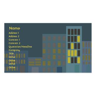 Ciudad - negocio tarjeta de visita